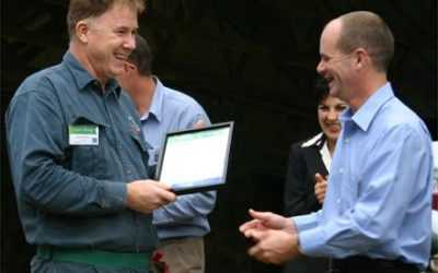 Rob Whyte accepts certificate of appreciation